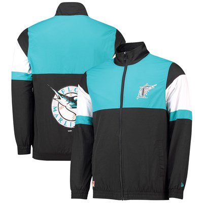 Florida Marlins New Era Coast To Coast Track Jacket - Mens