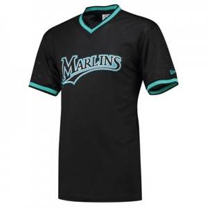 Florida Marlins New Era Coast To Coast Mesh T-Shirt - Mens