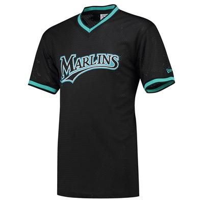 Florida Marlins New Era Coast To Coast Mesh T-Shirt - Mens