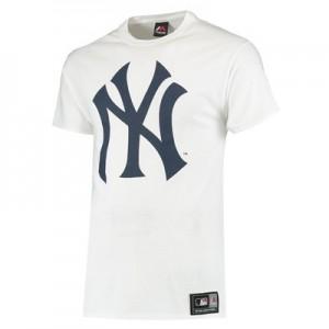 New York Yankees Prism T-Shirt - White  Mens