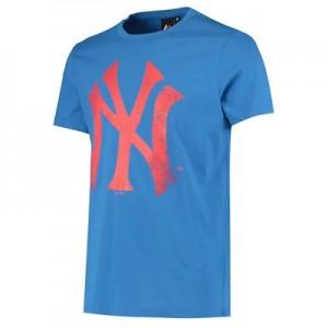 New York Yankees Large Logo T-Shirt - Blue - Mens