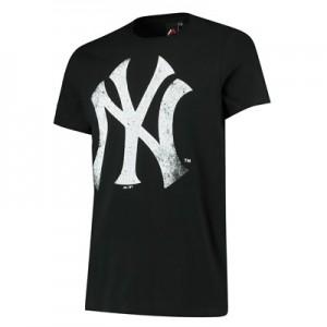New York Yankees Large Logo T-Shirt - Navy - Mens