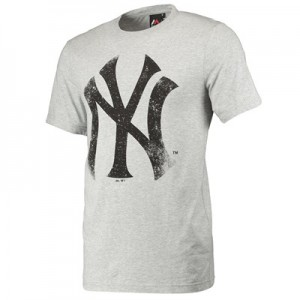 New York Yankees Large Logo T-Shirt - Grey - Mens