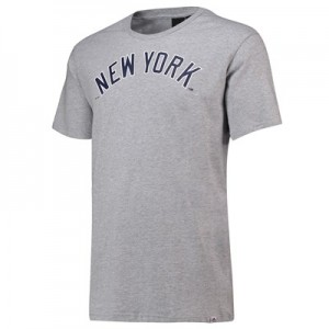 New York Yankees Road T-Shirt - Grey Marl - Mens
