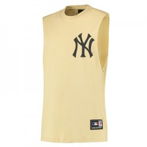 MLB Yisser Muscle T-Shirt - Yellow - Mens