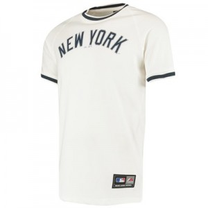 New York Yankees Freman Longline T-Shirt - White - Mens