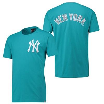 New York Yankees Gamily T-Shirt - Aqua - Mens