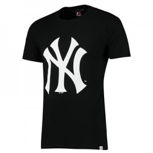 New York Yankees Prism T-Shirt - Black - Mens
