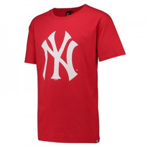 New York Yankees Prism T-Shirt - Red - Mens