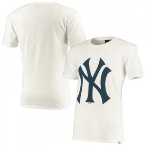 New York Yankees Prism T-Shirt - White - Mens