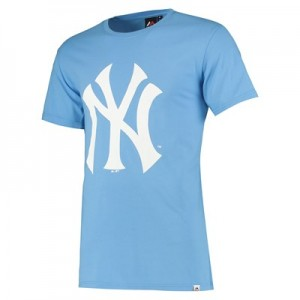 New York Yankees Prism T-Shirt - Light Blue - Mens