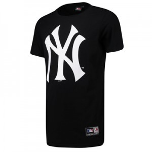New York Yankees Longline T-Shirt - Black - Mens