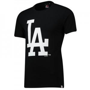 Los Angeles Dodgers Prism Longline T-Shirt - Black - Mens