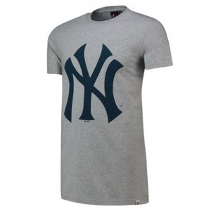 New York Yankees Prism Longline T-Shirt - Grey - Mens