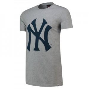 New York Yankees Prism Longline T-Shirt - Grey - Mens