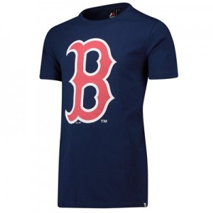Boston Red Sox Prism Longline T-Shirt - Navy - Mens