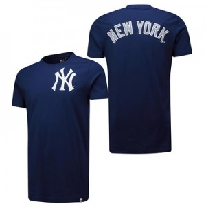 New York Yankees Gamily Longline T-Shirt - Navy - Mens