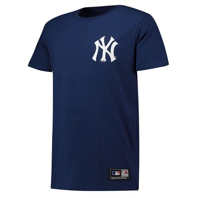 New York Yankees Rishop Longline T-Shirt - Navy - Mens
