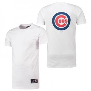 Chicago Cubs Longline T-Shirt - White - Mens