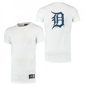 Detroit Tigers Longline T-Shirt - White - Mens