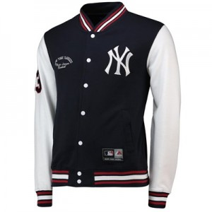 New York Yankees Letterman Jacket - Navy - Mens