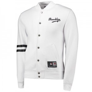 Brooklyn Dodgers Letterman Jacket - White - Mens