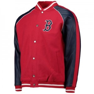 Boston Red Sox Letterman Jacket - Red - Mens