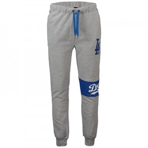 Los Angeles Dodgers Wrap Front Joggers - Grey - Mens
