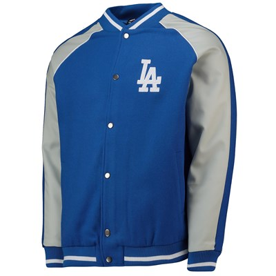 Los Angeles Dodgers Letterman Jacket - Aqua - Mens