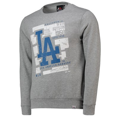 Los Angeles Dodgers Graphic Sweatshirt - Grey - Mens
