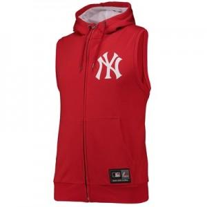 New York Yankees Sleeveless Hoody - Red - Mens