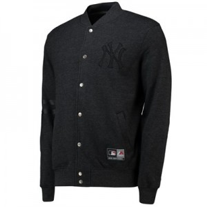 New York Yankees Letterman Jacket - Black - Mens