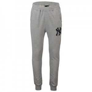 New York Yankees Loppback Jogger - Grey - Mens