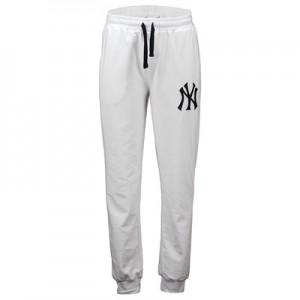 New York Yankees Slim Joggers - White - Mens