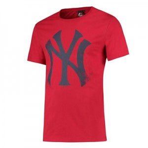 New York Yankees Large Logo T-Shirt - Red - Mens