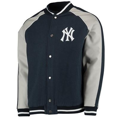 New York Yankees Letterman Jacket - Navy - Mens