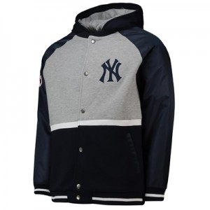 New York Yankees Hooded Jacket - Grey - Mens