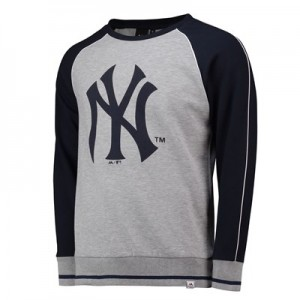 New York Yankees Raglan Sweatshirt - Grey - Mens