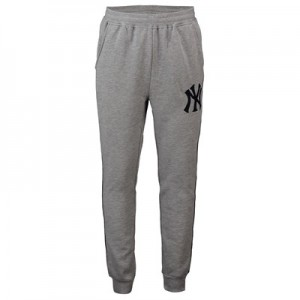 New York Yankees Fleece Joggers - Grey - Mens