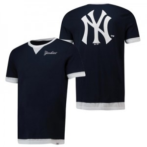 New York Yankees Mock Layer T-Shirt  - Navy - Mens