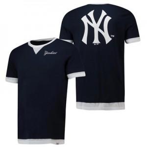 New York Yankees Mock Layer T-Shirt  - Navy - Mens