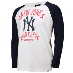New York Yankees Enzysoft LS T-Shirt - White  Mens