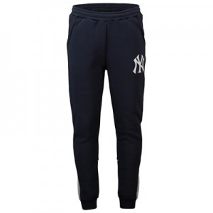 New York Yankees Fleece Joggers - Navy - Mens