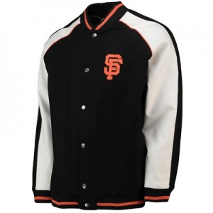 San Francisco Giants Letterman Jacket - Black - Mens