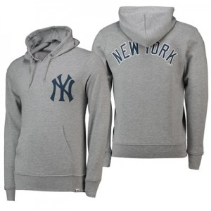New York Yankees Gamily Hoody - Grey - Mens