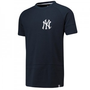 New York Yankees Panel T-Shirt - Navy - Mens