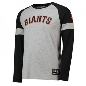 San Francisco Giants Eldon LS T-Shirt - Grey - Mens