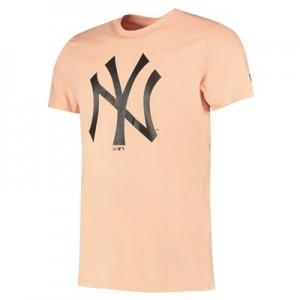 New York Yankees New Era Seasonal Team Logo T-Shirt - Dusty Rose - Mens