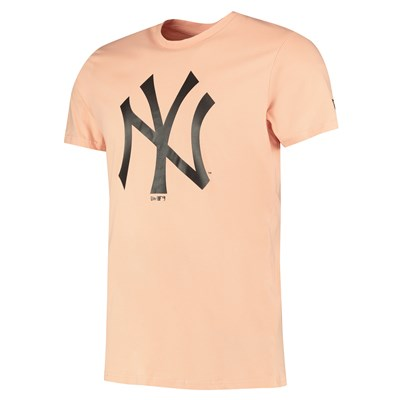 New York Yankees New Era Seasonal Team Logo T-Shirt - Dusty Rose - Mens