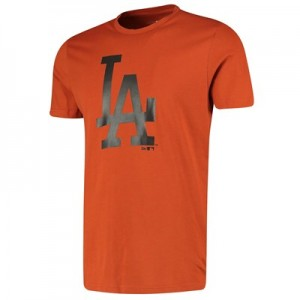 Los Angeles Dodgers New Era Seasonal Team Logo T-Shirt - Rust - Mens